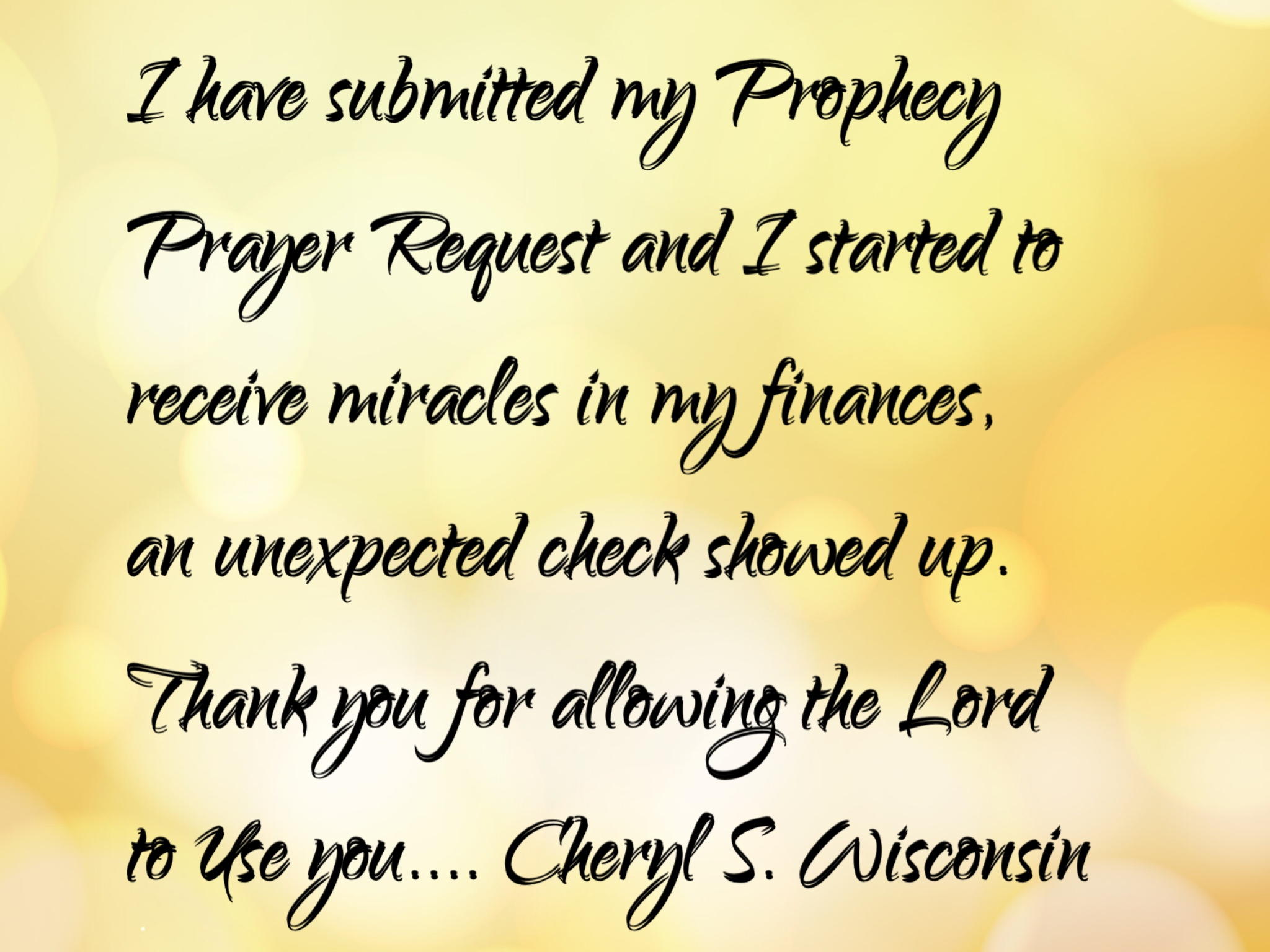Prophecy Prayer Request is a Gift - Prophecy Request